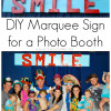 DIY Marquee Sign for a Photo Booth