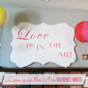 DIY Wooden Sign and Valentine's Mantel