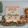 My Fall Mantel 2012 and Ruffled Burlap Garland Tutorial