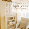 How to add legs to furniture