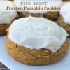 The BEST Frosted Pumpkin Cookies