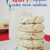 Easy USA Cake Mix Cookies