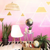 Accent Wall Ideas: Pink Ombré Wall with Triangle Details
