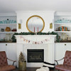 Bake Craft Sew Decorate: Mixed Metals Christmas Mantel