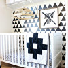 DIY Triangle Design Faux Wallpaper
