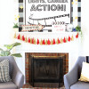 Movie Night Mantel Decor