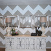 How to paint a Chevron Wall Tutorial