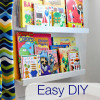 DIY book shelf ledges - Easy, inexpensive and AWESOME!