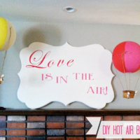 DIY Decorative Hot Air Balloons for $5
