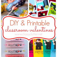 DIY and Printable Valentine's for your kid's class!