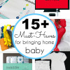 15 necessities when you have a Newborn