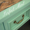 The Perfect Mint Color and Herringbone Desk