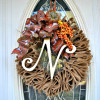 $5 Burlap Fall Wreath {oldie but a goodie!}
