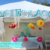 DIY Glittered Polka Dots and Mermaid Party Decor