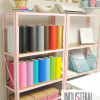 Inexpensive Craft Room Shelving
