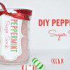 DIY Peppermint Sugar Scrub Recipe - Last minute gift idea
