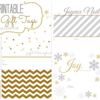 FREE Christmas Gift Tags - 8 printable designs