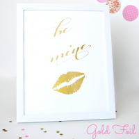 Gold Valentine's Day Printables