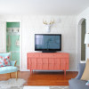 Coral and Mint Living Room Reveal