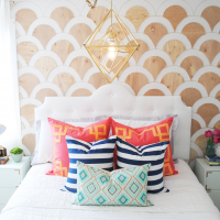 DIY Wood Scalloped Wall Tutorial