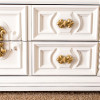 White and Gold Dresser- Master Bedroom PART 1
