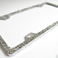 DIY Rhinestone License Plate Frame