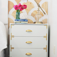 DIY Campaign Style Nightstand - Ikea Rast Hack