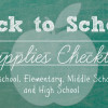 Back to School Checklist Printables