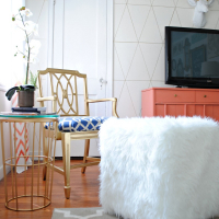 DIY Faux Fur Ottoman Tutorial