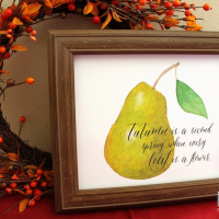 Free Fall Pear Printable