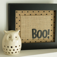 Boo! Halloween Framed Decor