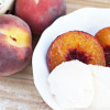 Grilled Peaches with Cinnamon and Sugar