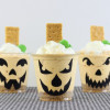 No-bake Pumpkin Cheesecake Jack-o-lanterns
