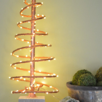 Industrial Copper Christmas Tree