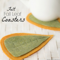 Felt Fall Leaf Coasters