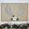 Glittered Antlers Winter Decor
