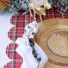 DIY Scalloped Christmas Table Runner