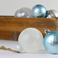 Glitter Dipped Bulb Ornaments