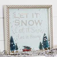 Let it Snow Shadow Box Snow Globe