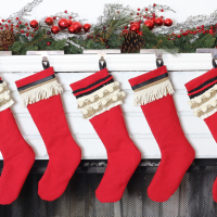 DIY Vintage Inspired Christmas Stockings