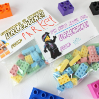 Lego Valentines with a Free Lego Movie Printable
