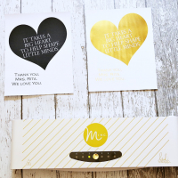 DIY Gold Foil Teacher Gift