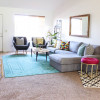 Colorful Mid Century Glam Living Room Makeover