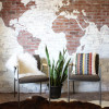 DIY Projects: Faux Brick Wall World Map + a Giveaway!