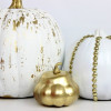 Halloween Ideas: Crackled and Studded Pumpkins