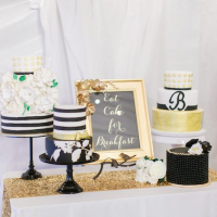 Wedding Ideas- Black, White and Gold Wedding