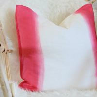Dip Dyed Pillow and Fabric Dyeing Tips