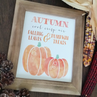 Fall Pumpkin Printable