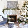 How to hang stockings and decorate a mantel for Christmas