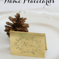 DIY Engraved Metal Placecards + Silhouette Black Friday DEALS!